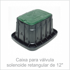 Caixa para válvula solenoide retangular de 12
