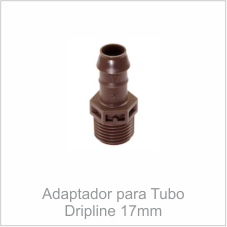 Adaptador para Tubo Dripline 17mm