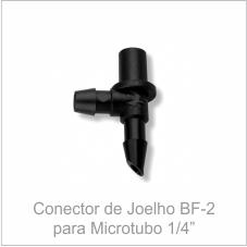 Conector de Joelho BF-2 para Microtubo 1/4''
