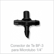 Conector de Te BF-3 para Microtubo 1/4''
